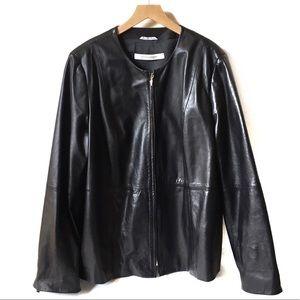 Marina Rinaldi leather jacket made in Italy